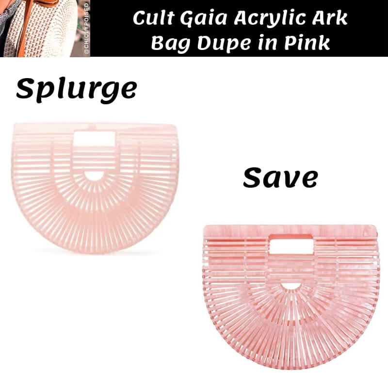 Cult Gaia Acrylic Ark Bag Dupe in Pink