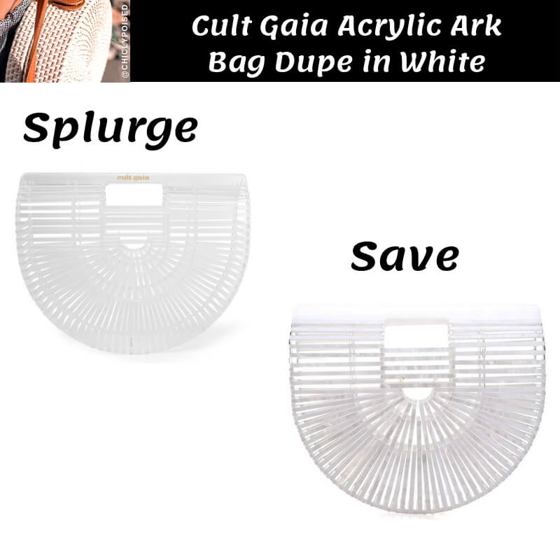 Cult Gaia Acrylic Ark Bag Dupe in White