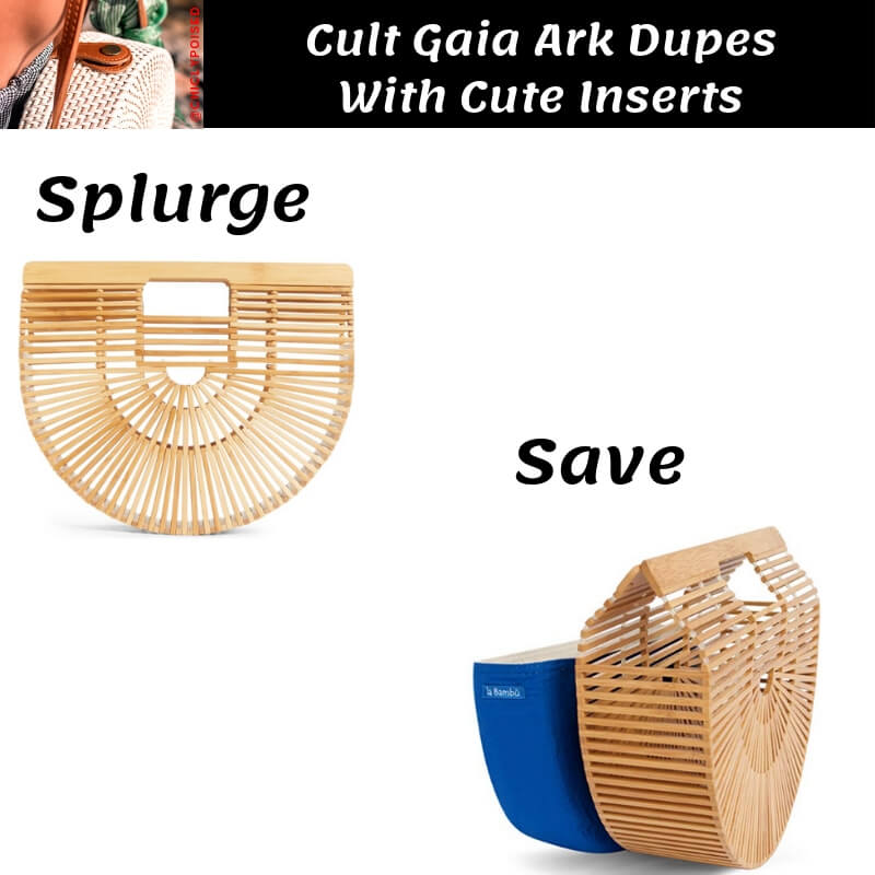 Cult Gaia Ark Bag Dupe with Blue Insert