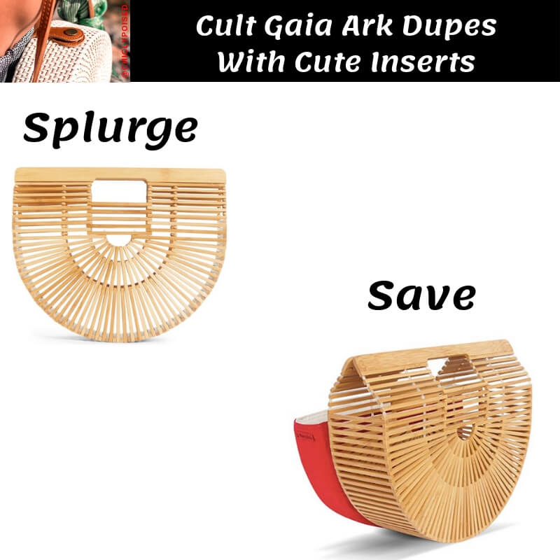 Cult Gaia Ark Bag Dupe with Red Insert