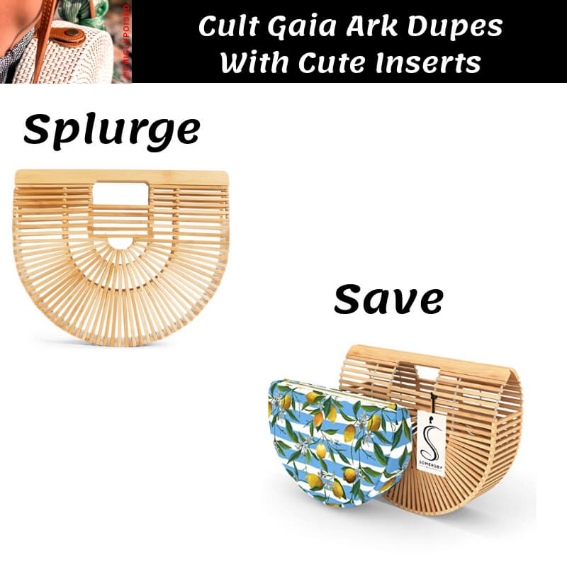 3. Cult Gaia Ark Bag Dupe with Lemon Pattern Insert