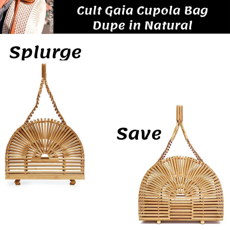 Cult Gaia Cupola Bag Dupe in Natural
