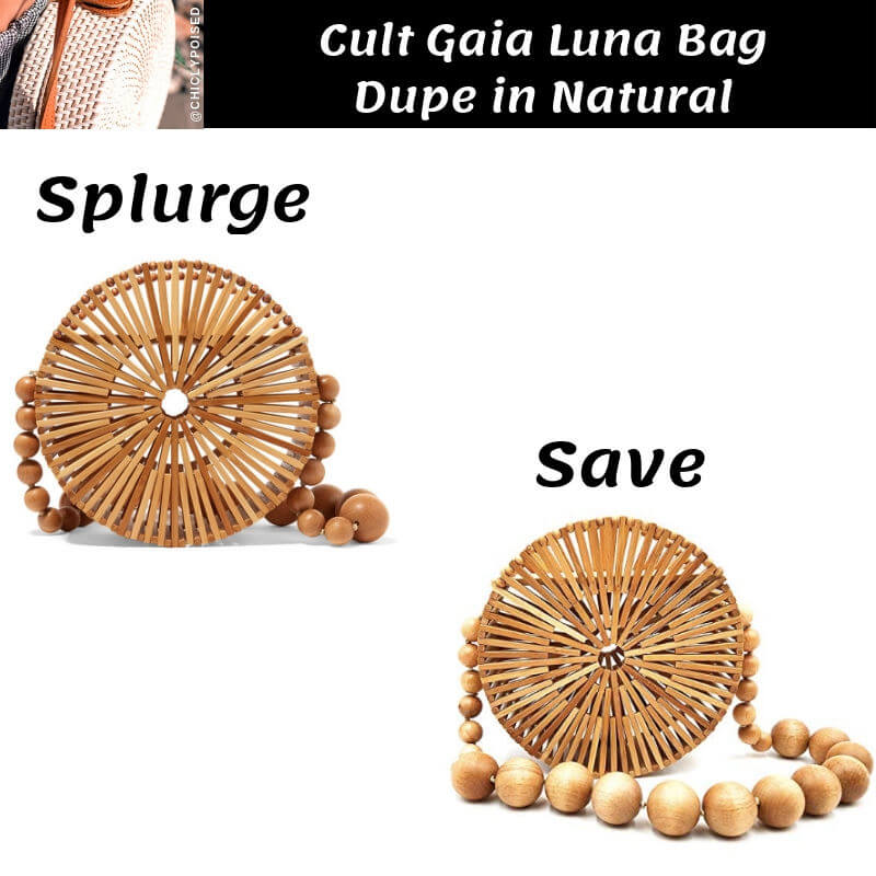Cult Gaia Luna Bag Dupe in Natural