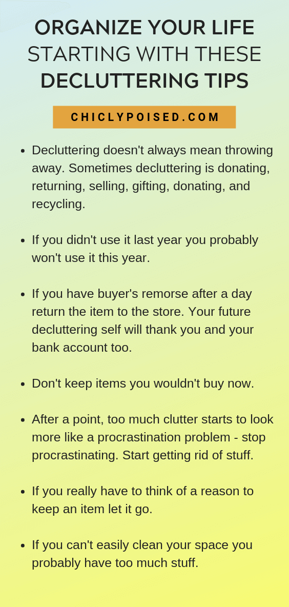 Decluttering Tips To Organize Your Life Better