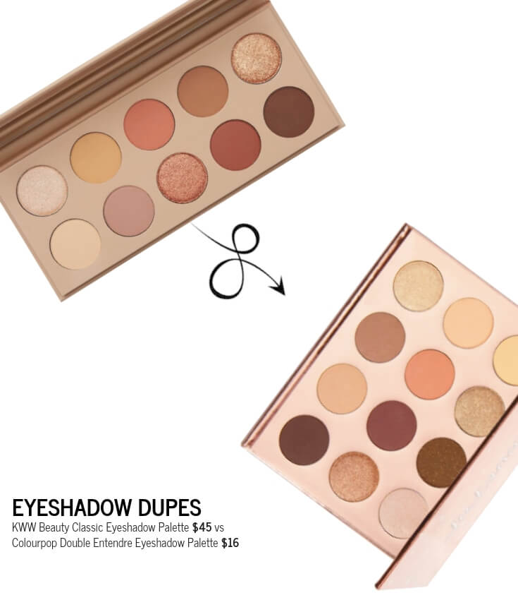 KWW Beauty Classic Palette and Colourpop Double Entendre Palette Side by Side