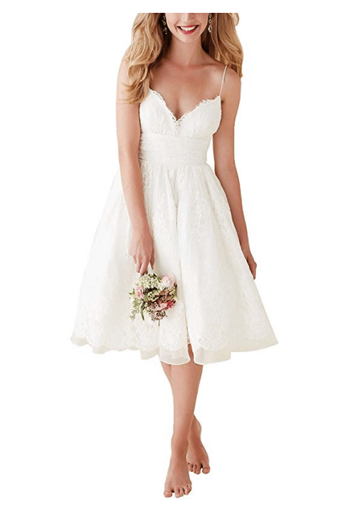 Knee Length Short Wedding Dress