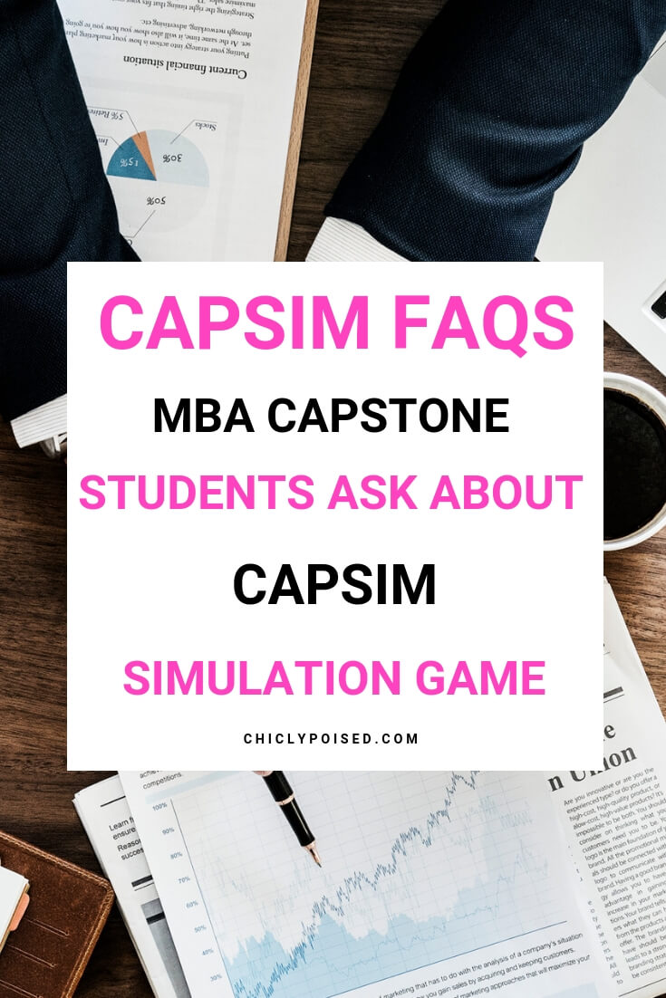 MBA capstone students ask about the Capsim