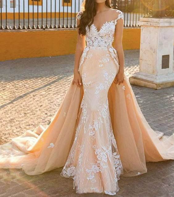 Detachable Trains For Wedding Gowns: 15 Detachable Train Wedding Dresses Under 200 Dollars For