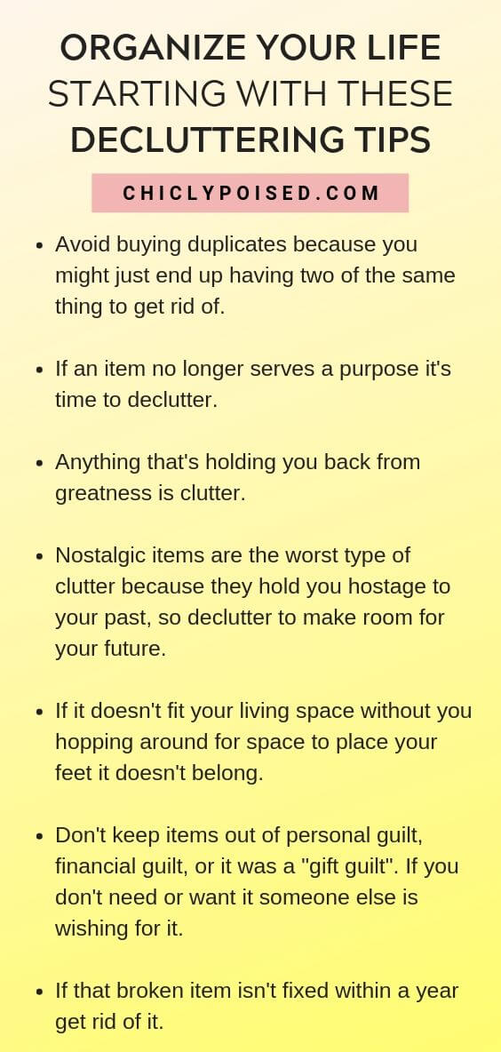 Organize Your Life Starting With These Decluttering Tips 2 of 5