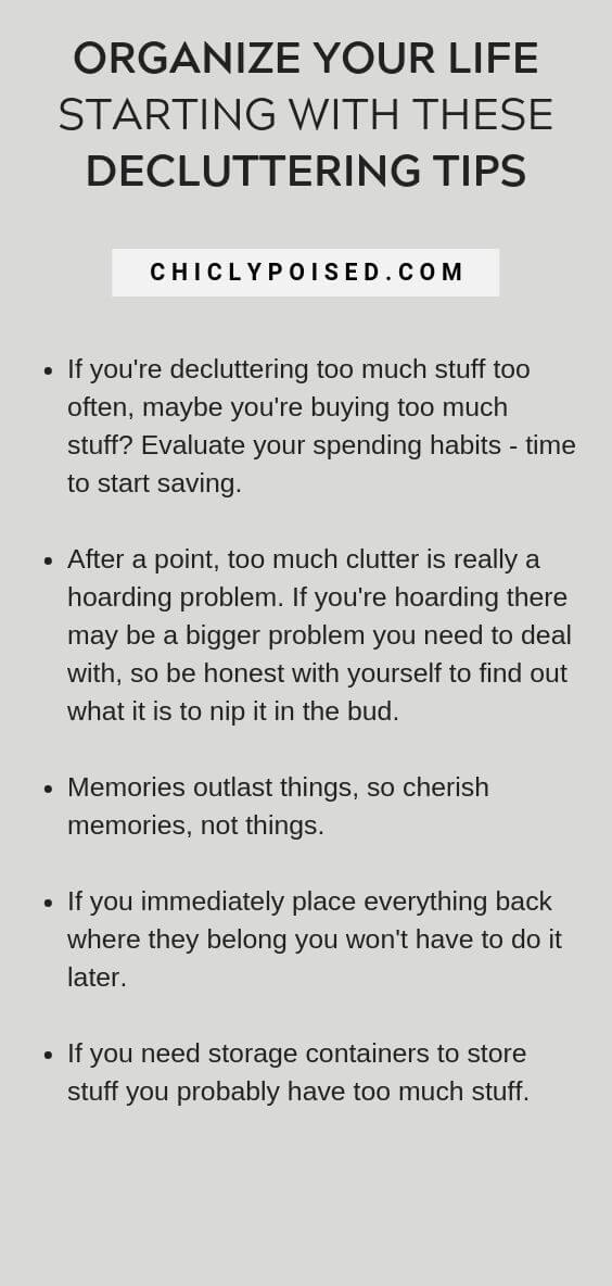 Organize Your Life Starting With These Decluttering Tips 4 of 5