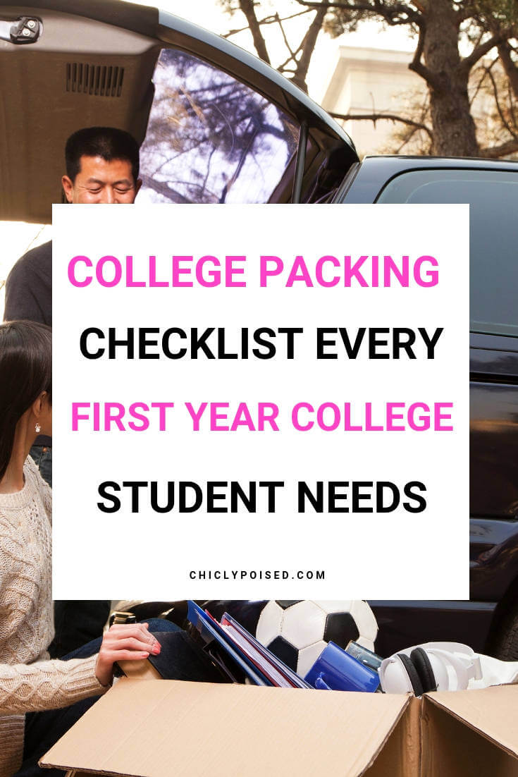 Receive Free Printable College Packing Checklist