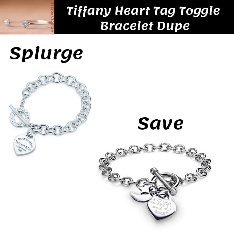 Tiffany Heart Tag Toggle Bracelet Dupe
