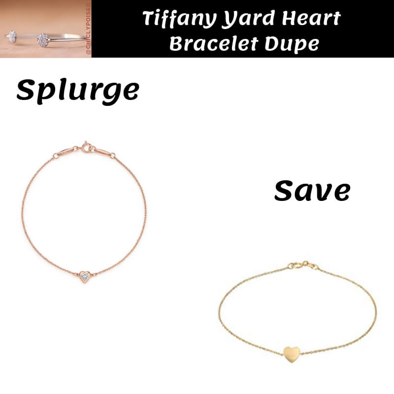 Tiffany Yard Heart Bracelet Dupe