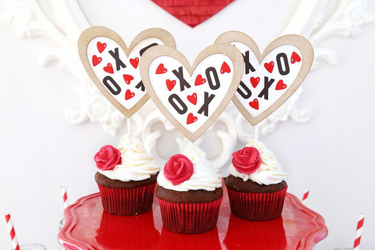 XOXO Cupcake Toppers