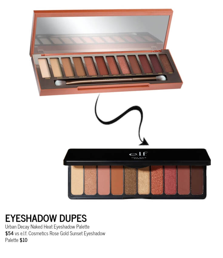 e.l.f. Cosmetics Rose Gold SunsetEyeshadow Palette Dupe for Urban Decay Naked Heat Palette