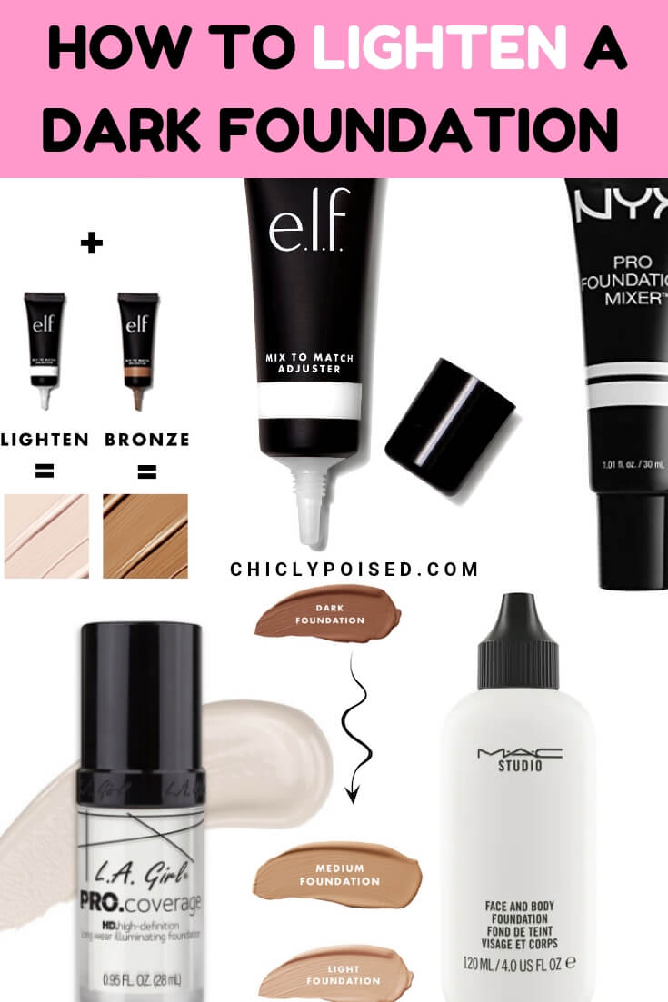 Lighten A Dark Foundation To Match to suit your skin tone