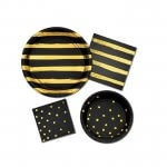 Black & Gold Disposable Party Supplies