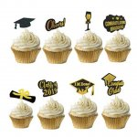Black and Gold Cupcake Toppers
