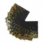 Black and Gold Disposable Party Black Tissue Paper