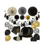 Black and Gold Graduation Party Decorating Bundle