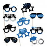 Blue 2019 Graduation Party Photo Booth Props Kit