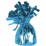 Blue Metallic Wrapped Balloon Weights