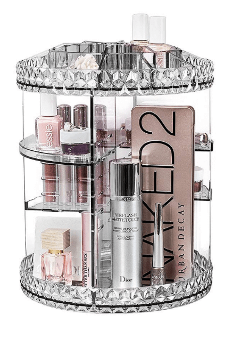 Clear Tall Makeup Carousel