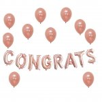 Congrats Rose Gold Balloons Decorations