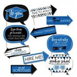 Funny Blue Grad Party Photo Booth Props Kit