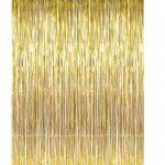 Gold Metallic Tinsel Foil Fringe Curtains for Party Photo Backdrop