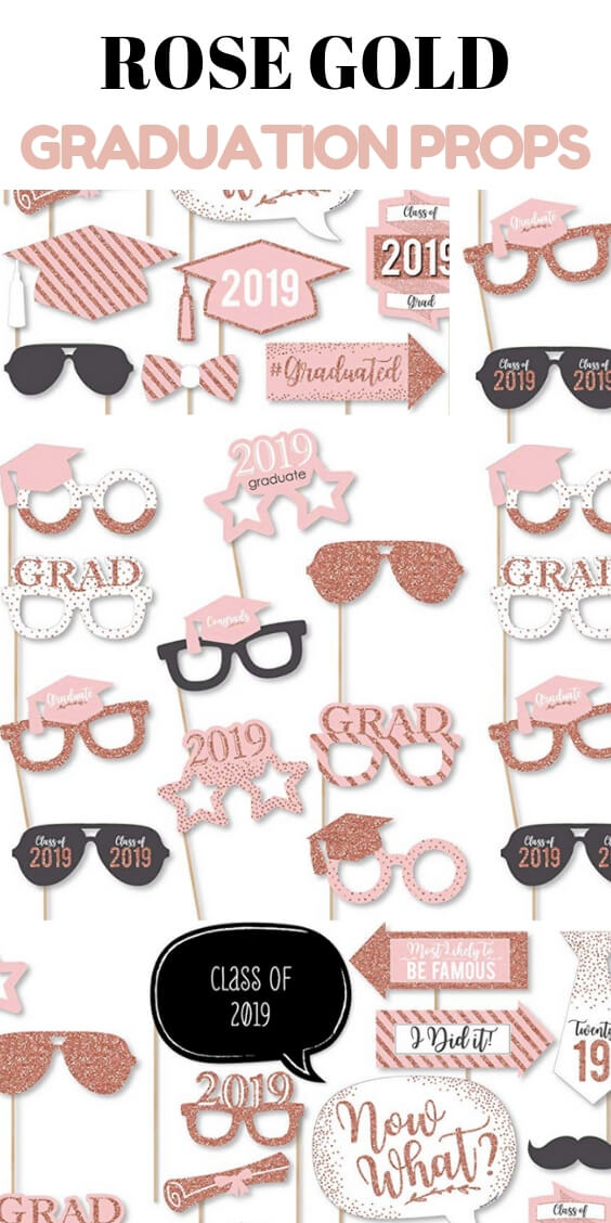 Items For A Rose Gold Graduation Party
