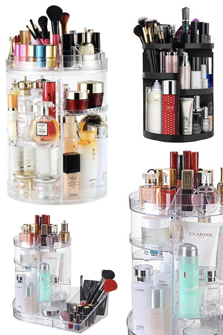 Makeup Carousels Organize Makeup Easily