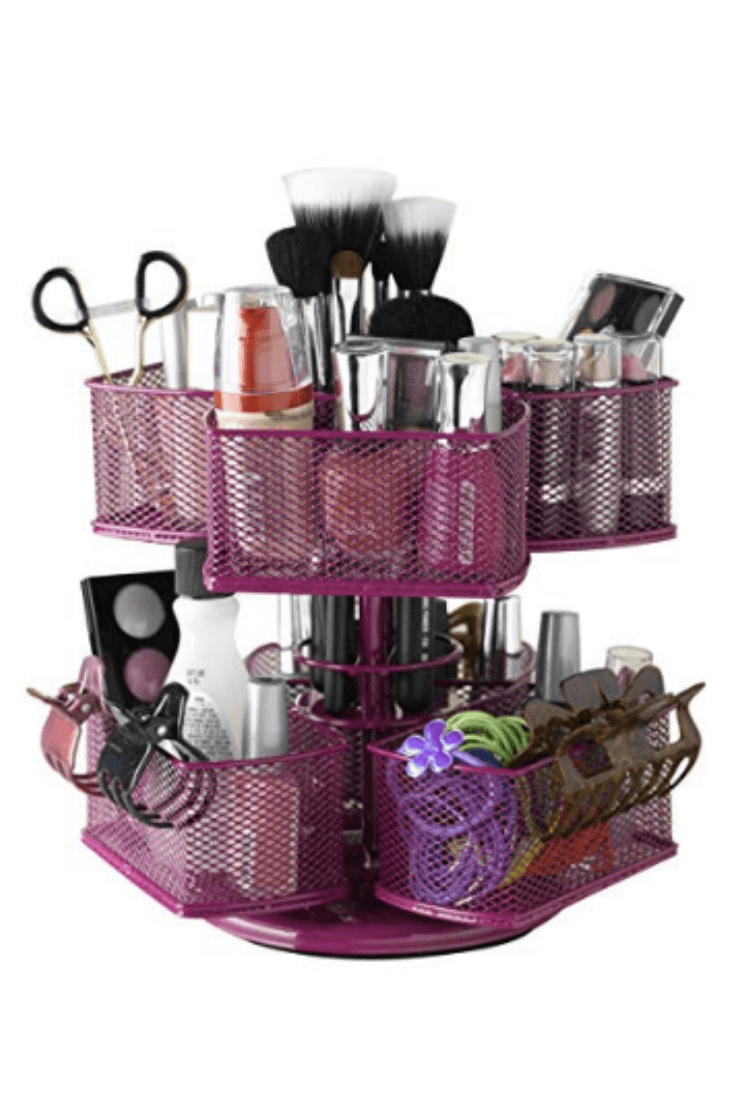 Pink Wire Makeup Carousel