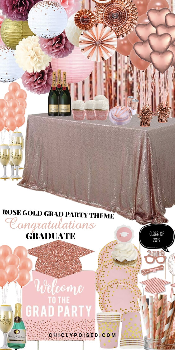Rose Gold Graduation Party Theme For Your Graduation Party