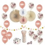 Rose Gold Party Decorations Set