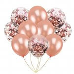 Rose Gold Party Supplies Confetti Balloons