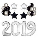 Silver 2019 Balloons Party Decorations
