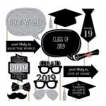 Silver and Black 2019 Graduation Party Props