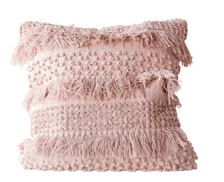 Pink Textured Throw Pillow