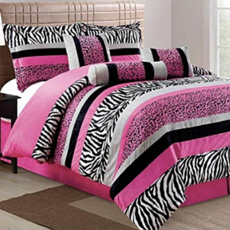 College Apartment Cozy Comforter Sets Hot Pink-1
