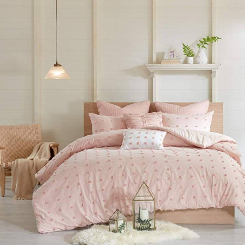 College Apartment Cozy Comforter Sets Pink-3