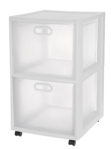 College Dorm Room Storage Ideas | Clear Sterilite 2 Drawers