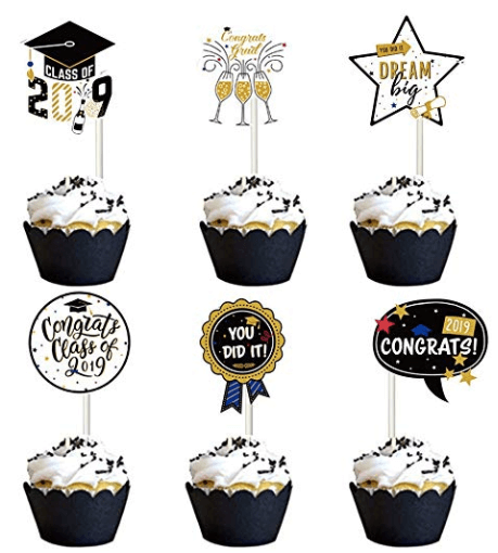 Graduation Party Ideas | Graduation Party Cupcake Toppers