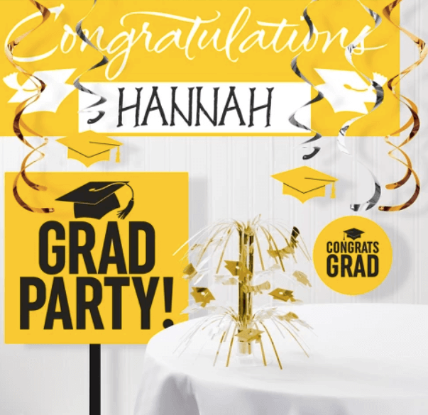 Graduation Party Ides | Yellow Party Kit