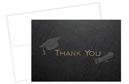 Graduation Thank You Note Card |Graduation Party Thank You, Note Card