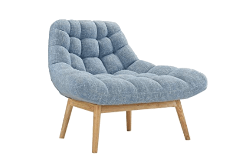 Super Cool College Dorm Room Chairs |Blue Modern Linen Plush Living Room Lounge Accent Chair