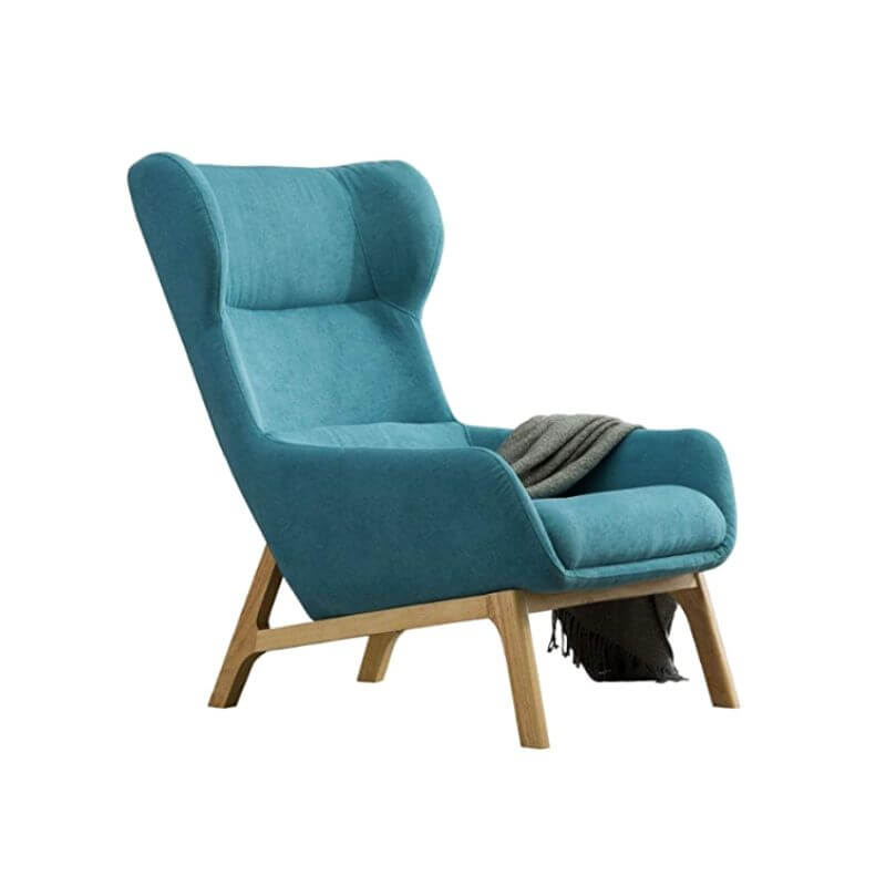 Super Cool College Dorm Room Chairs | Contemporary Velvet Fabric Height Back Accent Chair