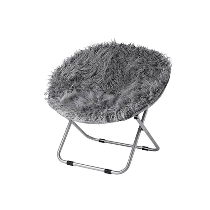 College Apartment Decorating Ideas For Your College Apartment Living Room | Dark Gray Fur Moon Chair