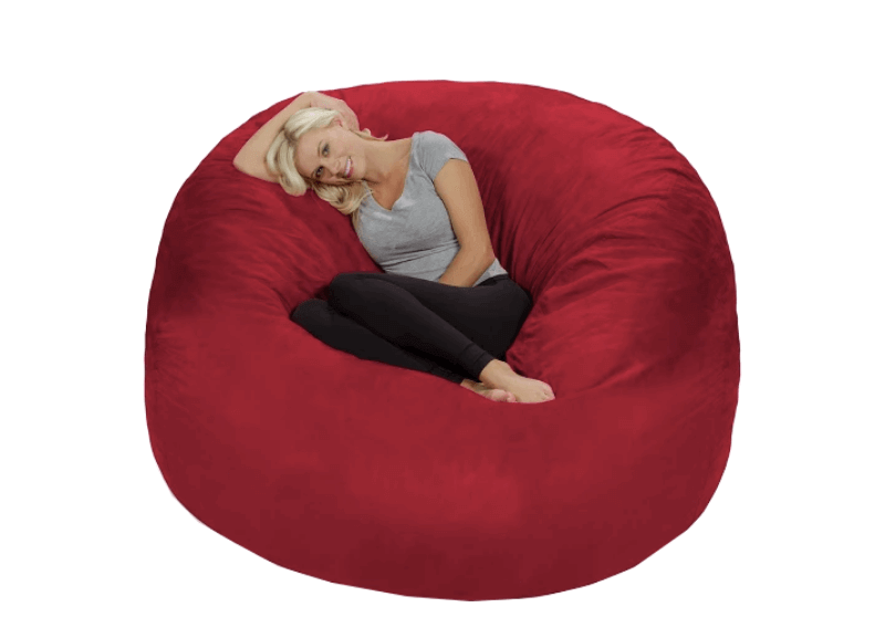 Super Cool College Dorm Room Chairs | Huge Red Memory Foam Bean Bag