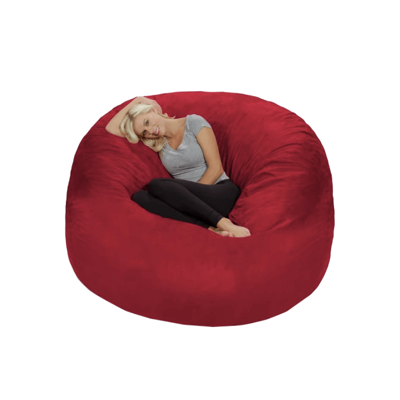 College Apartment Decorating Ideas For Your College Apartment Living Room | Huge Red Memory Foam Bean Bag